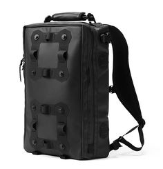 Black Ember Backpacks  All of Black Embers' modular urban packs are made with materials like black waterproof carbonate-coated 1000-Denier Ballistic nylon & leather & feature Mag-Lock hardware. Choose from 3 pack models & build it to your own specs with their line of accessories.