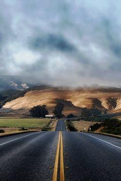 clouds, hills, landscape
