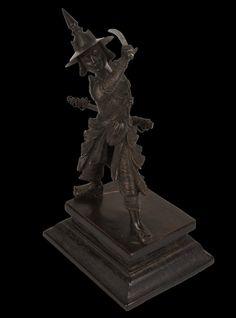 A Fine Burmese Cast Bronze Warrior Figure, Pegu People, Circa 1920. | 530046 | www.wjmantiques.com