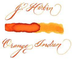 J. Herbin 30 ml Bottle Fountain Pen Ink, Orange Indien