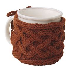 7. Favorite summer drink: A large triple non-fat latte with a Cabled Mug Cozy (Pattern) for those foggy SF nights at the beach