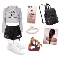 """""""summer break"""" by kenza-kerrrout on Polyvore featuring adidas Originals and Casetify"""