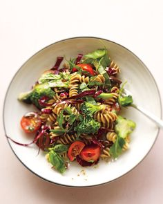 My go to pasta salad - so healthy and yummy  Pasta and Vegetable Salad - Whole Living Eat Well