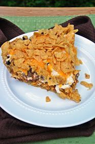 Hi guys!    A few days ago I cam across a recipe on.... yup you guessed it Pinterest (lol) for Frito Taco Pie.  Taco's are a biweekly menu...