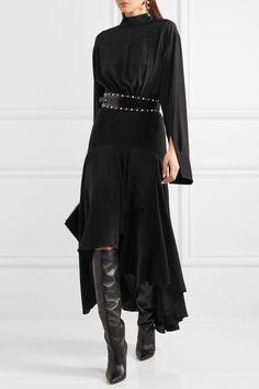 JWAnderson | Асимметричный панельный сатин и креп миди платье | NET-A-PORTER.COM