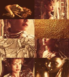 """Zoē (daughter of Midas). Greek Mythology Dreamcast - Natalia Vodianova as Zoë, daughter of Midas. According to some accounts, Midas had a son, Lityerses, the demonic reaper of men, but in some variations of the myth he instead had a daughter, Zoë or """"life""""."""