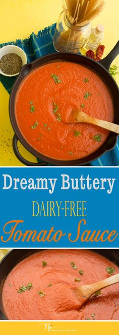 Easy Dreamy Butter-y Tomato Sauce (Dairy-free)