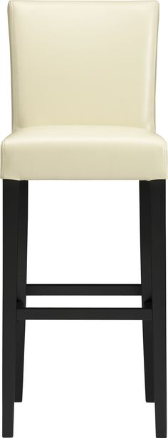 """Lowe Ivory 30"""" Leather Barstool in Barstools   Crate and Barrel"""