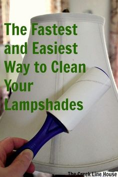 Lampshade | Use a lint roller to get the dust off.