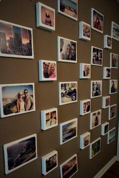 Easy DIY Gallery photo Wall .