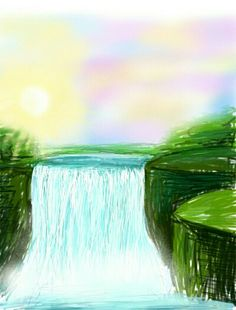 Speed painting on #Samsung tablet using #infinitypainter app
