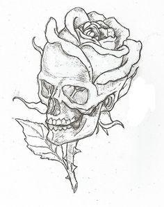 Simple skulls and roses drawings easy skull drawings, simple skull drawing, rose drawings, Pencil Art Drawings, Cool Art Drawings, Drawings Of Skulls, Drawing Pictures, Drawings About Love, Cool Simple Drawings, Cool Drawings Tumblr, Beautiful Easy Drawings, Sick Drawings