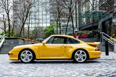1997 Porsche 911 Turbo S 6-Speed Manual, Speed Yellow with Black Leather Interior, 3.6 L, 425 bhp, 6-Speed Manual. weissach.com - I WANT this car!