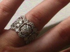 I love this wide vintage ring - not even as an engagement ring, I just find it beautiful! (I cannot find the original link to this pin anywhere!)