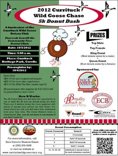 Partner with a local bakery or donut chain to host a fun fundraiser like this 5k!