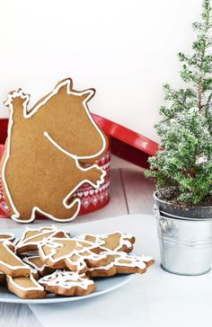 Gingerbread ❅ Moomins for Christmas Chistmas Cookies, Gingerbread Cookies, Christmas Mood, Christmas Desserts, Xmas, Merry Christmas, Ginger Bread Cookies Recipe, Cute Cookies, Scandinavian Christmas