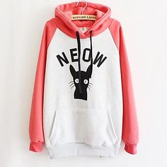 Women's Fashion Prints Thicken Hoodies - EUR € 19.07