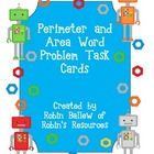 These cards contain some one step and some two step perimeter and area ...