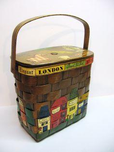 Vintage Caro Nan Basket Purse  Miami  1953 by DimeStoreVintage, $19.99