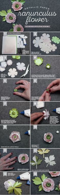 DIY Ranunculus Paper Flower Tutorial from MichaelsMakers Lia Griffith
