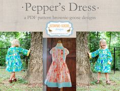 BG Originals Pepper's Dress pdf pattern par browniegoose sur Etsy, $9.00