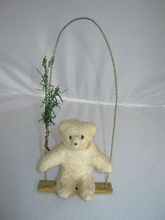 Antique Christmas Ornament Bear on Swing Germany | eBay