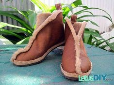 DIY handmade leather boot -----free step by step