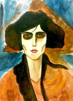 """Amedeo Modigliani (1884-1920) """" 1. Jeanne Hebuterne with Hat and Necklace (1917) 2. Lunia Czechowska with her Left Hand on her Cheek (1918) 3. Jeanne Hebuterne (1919) 4. Portrait of Maude Abrantes (1907) 5. Portrait of a Polish Woman (1919) """""""