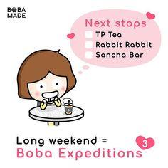 Long weekend!! Have you been to these spots?  @tptea.california @rabbitrabbitteacalifornia @sanchabar .  .  .  #bubbleteatime #bayareafoodie #boba #bobarun #bobatea #milkteatime #milktealover #tieguanyintea #chungshuitang #matchalover #珍珠奶茶 #珍奶    #Regram via @bobamade Boba Smoothie, Bubble Boba, Fb Page, Milk Tea, Long Weekend, Wall Signs, Tea Time, Bubbles, California