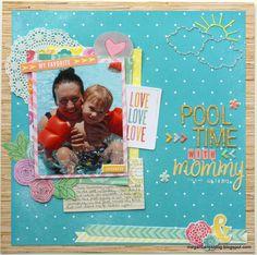 #papercraft #scrapbook #layout.  Megan Liane's Blog: SOS Challenge - Summer Time - Amy Tangerine Yes, Please