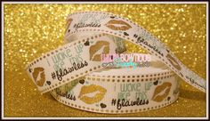I Woke Up Like This #Flawless Kiss Lips US Designer 7/8 Grosgrain Ribbon, Cute sayings, Flawless, I Am so Flawless by LulusBowtiqueSupply on Etsy