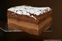 Chocolate Magic Custard Cakes Recipe Desserts with eggs, vanilla extract, sugar, butter, all-purpose flour, cocoa powder, milk, powdered sugar