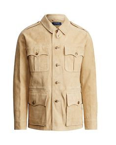 9b7c0cbe070f Polo Ralph Lauren - Suede Safari Jacket Mode Homme, Daim, Tenue De Travail,