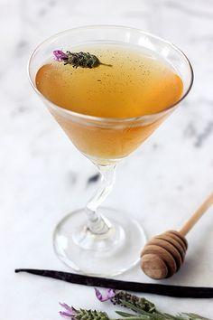 Honey Lavender Vanilla Bean Martini - Tasty Yummies
