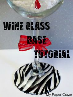 Tutorial on adding a vinyl design to the base of a wine glass. |  My Paper Craze