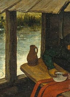 Pieter Bruegel the Elder, Detail from Netherlandish Proverbs, The pitcher goes to the water until it finally breaks, Everything has its limitations