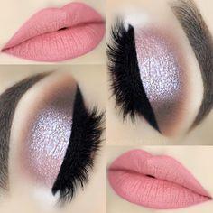 Lip makeup art ideas, makeup look ideas, red lip makeup ideas for prom, red lip makeup tutorial, eye Eyebrow Pencil, Eyebrow Makeup, Makeup Art, Glitter Eyebrows, Glitter Eye Makeup, Eye Makeup Steps, Makeup Tips, Makeup Ideas, Glitter Wallpaper Iphone