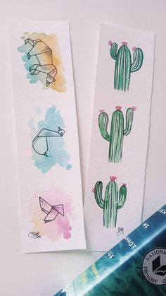 Set of two hand painted watercolor bookmarks. These are original watercolor painting, not a print! A beautiful gift for a book lover. Creative Bookmarks, Cute Bookmarks, Bookmark Craft, Handmade Bookmarks, Corner Bookmarks, Bookmark Ideas, Paper Bookmarks, Origami Bookmark, Handmade Gifts