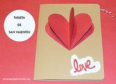 como hacer tarjeta san valentin manualidades