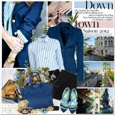 Down town, created by mizrose on Polyvore