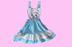 1950s handmade pinafore dress for 5-year-old child