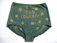 Bon Courage High Waist Lucky Underwear Indigo and by SerpentandBow / anyway if I'm gonna splurge on crazy high waisted undies it'll be these talismanic ones