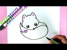 Comment dessiner un Renard Blanc Kawaii   DESSIN FACILE - YouTube