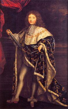 Testelin - Louis XIV as a child in Coronation dress (Versailles). Historical Art, Historical Costume, French History, Art History, History Pics, Family History, Louis Xiv Versailles, Grand Dauphin, Luís Xiv