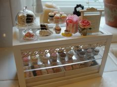 1:12 scale // Miniature filled bakery counter by Kimsminibakery on Etsy