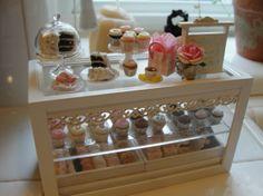 Miniature bakery counter   kimsminis on etsy $200