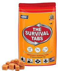 Prepper Food Ration 2day supply 24 tabs 25 Years shelf life Gluten Free and NonGMO Butterscotch Flavor >>> Details can be found by clicking on the image.