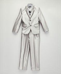 Look what I found on #zulily! Silver Five-Piece Suit Set - Boys #zulilyfinds