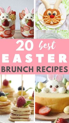 Spring Recipes, Easter Recipes, Brunch Recipes, Brunch Ideas, Sweet Recipes, Easter Bunny Cupcakes, Easter Cookies, Easter Treats, Brunch Buffet