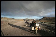 Gobi desert, Mongolia.  On Bmw 1200Gs Adventure.  Wild.